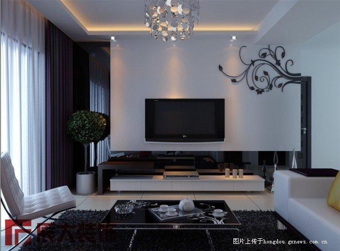 栋F栋三房两厅室内装修案例设计效果图户型图分析