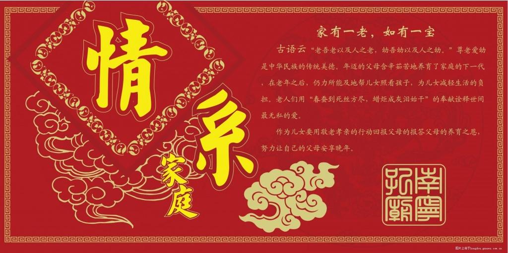 标题 感恩父母,孝行重阳 南宁孔庙敬老礼宣传板报 图