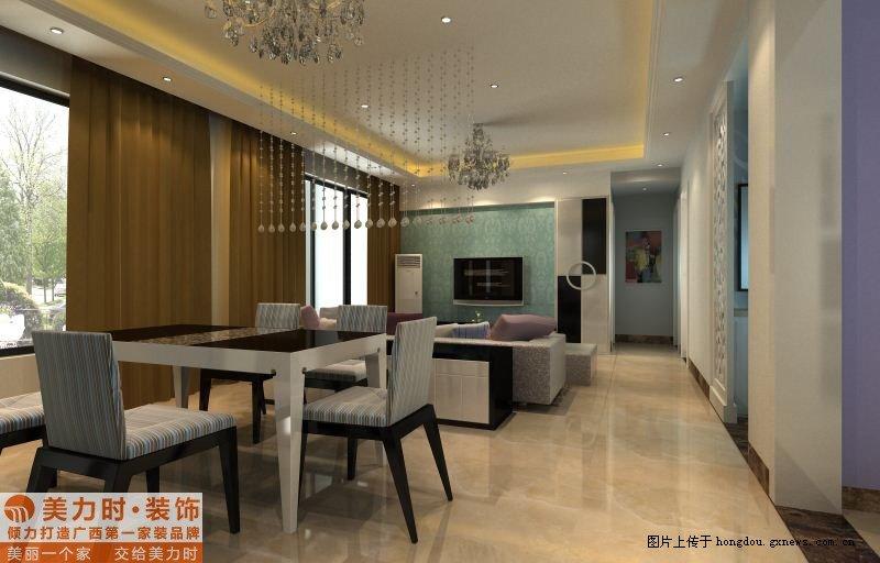 汇东郦城现代简约室内设计装修效果图高清图片