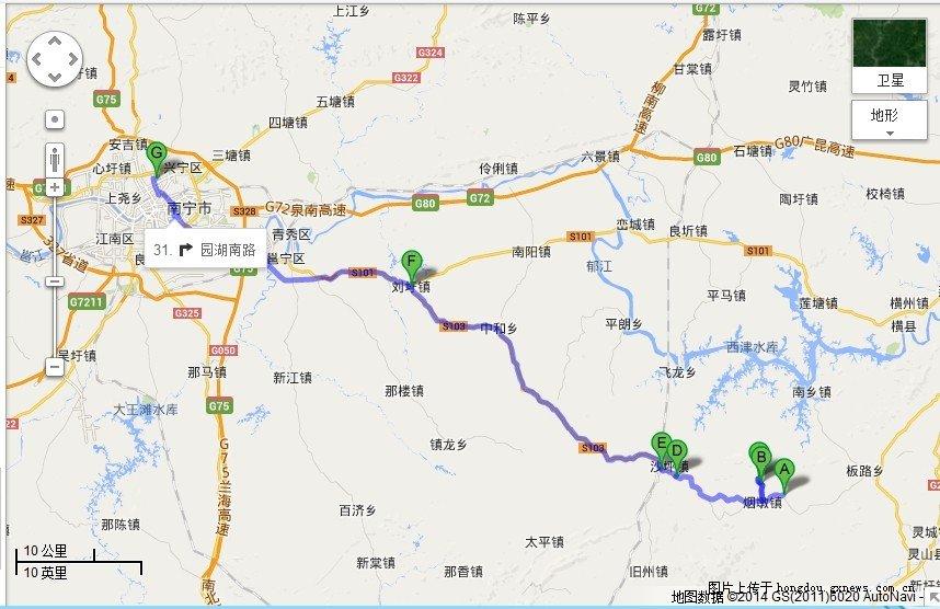 南宁 邕宁区 灵山烟墩镇骑行计划