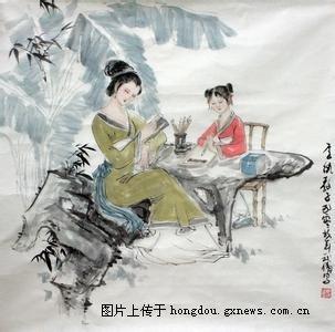标题 人生八雅 琴棋书画诗酒花茶