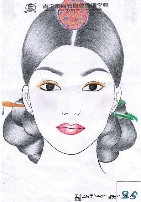 南宁化妆学校彩妆手绘大赛精美之作值得收藏图片