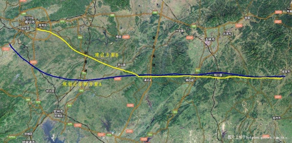 广东信宜 到南宁 苏圩 高速公路具体走向