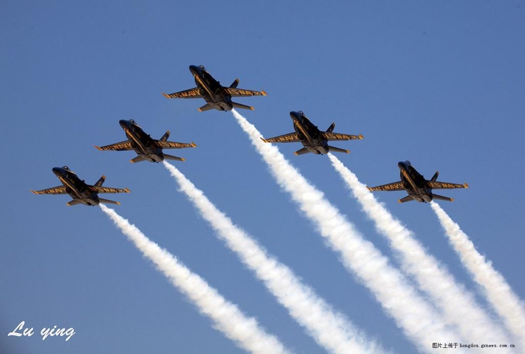 美海军蓝天使特技飞行队表演拍摄