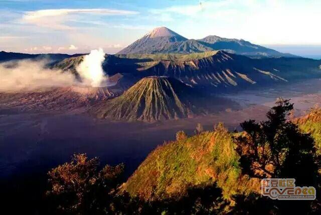 美丽的印度尼西亚火山