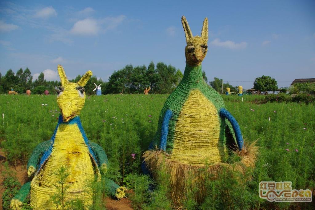 彩色稻草人的世界――三千村香草园