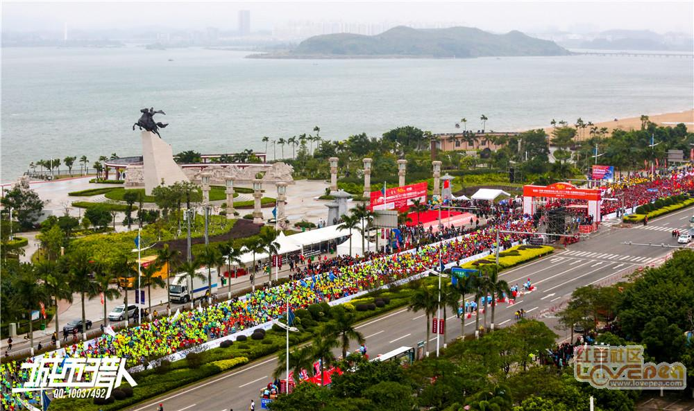 中国-东盟马拉松,万人起跑,场面壮观