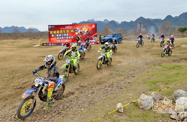 广西越野摩托车迎来最美开年赛