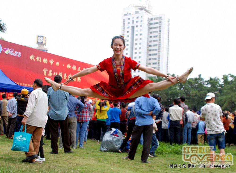 八桂民俗盛典,美女技惊四方
