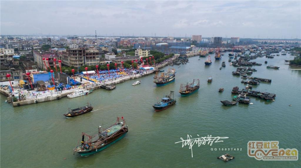 航拍防城港企沙开海活动