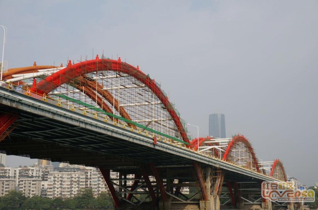 文惠大桥的脚手架