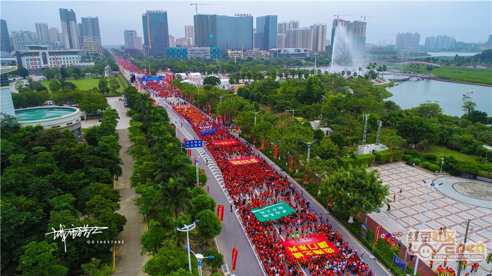 航拍2018中国―东盟国际马拉松