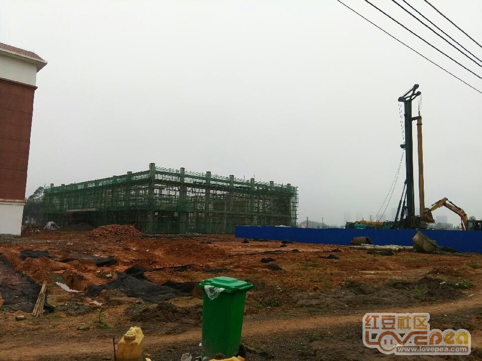 红豆市第九初级中学建设最新进展。-来宾初中社区杭州崇文图片