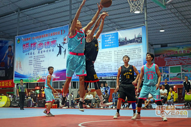 社区篮球赛热闹过大节