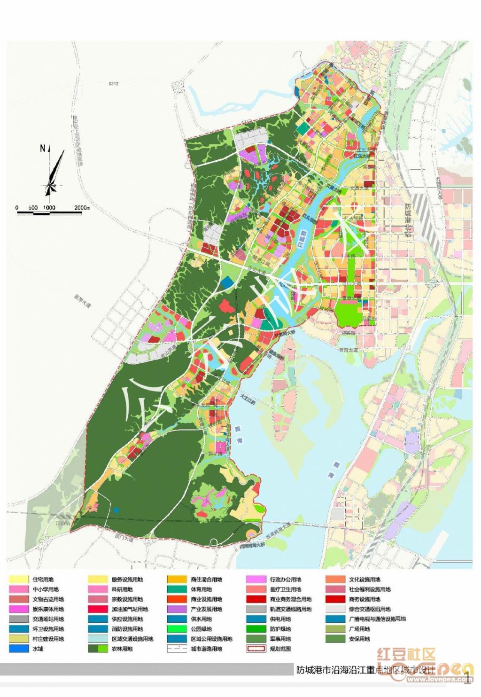 最新防城港城市规划图