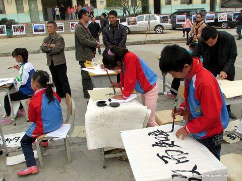 贺州市莲塘镇中小学生书法绘画比赛在莲塘中心校举行 多图