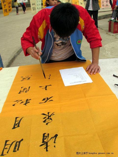 贺州市莲塘镇中小学生书法绘画比赛在莲塘中心校举行 多图 掌上红豆
