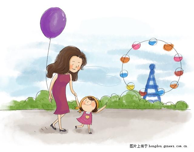 5张手绘母亲,勾起对螟蛉的无数回忆|掌上红豆漫画漫画戏水图片