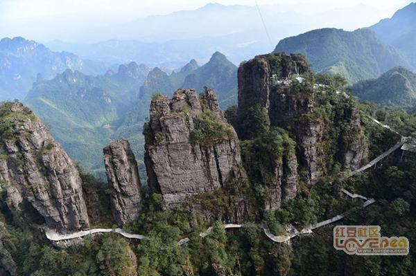 建设中的平南北帝山旅游景区初露锋芒图片