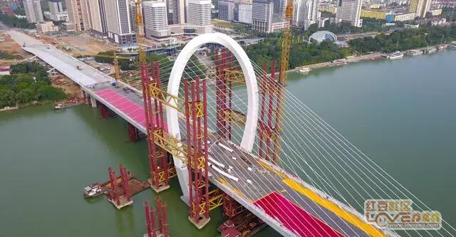 柳州白沙大桥即将完工