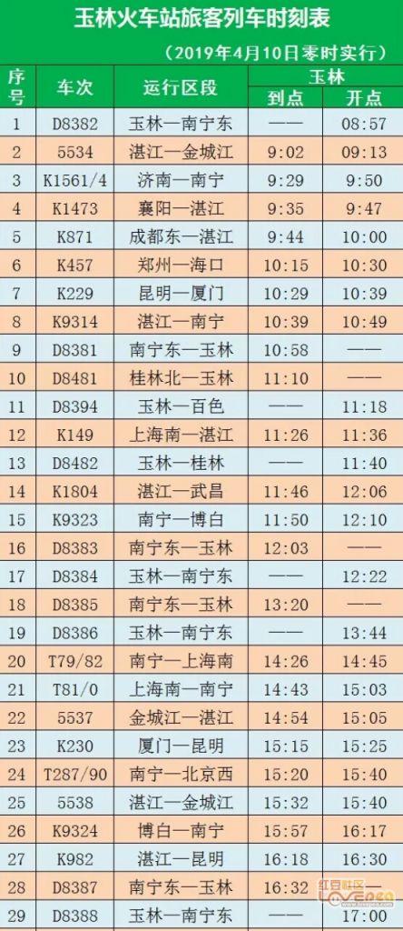 2019.4.10车站调图玉林火校徽60趟素材v车站免费铁路