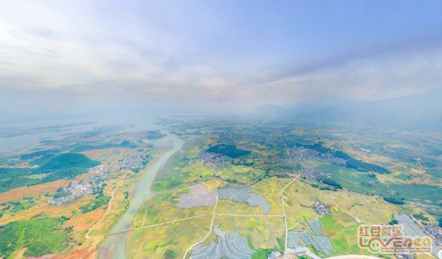 500米高空下的富川航拍