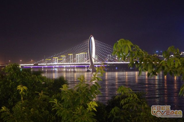 换一个角度拍白沙大桥