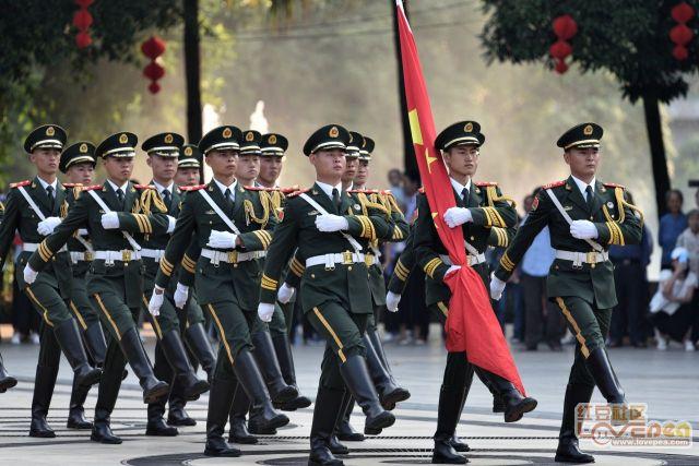 百色市庆祝中华人民共和国成立70周年升国旗活动
