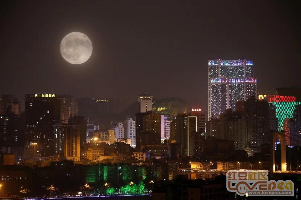 柳州中秋月圆